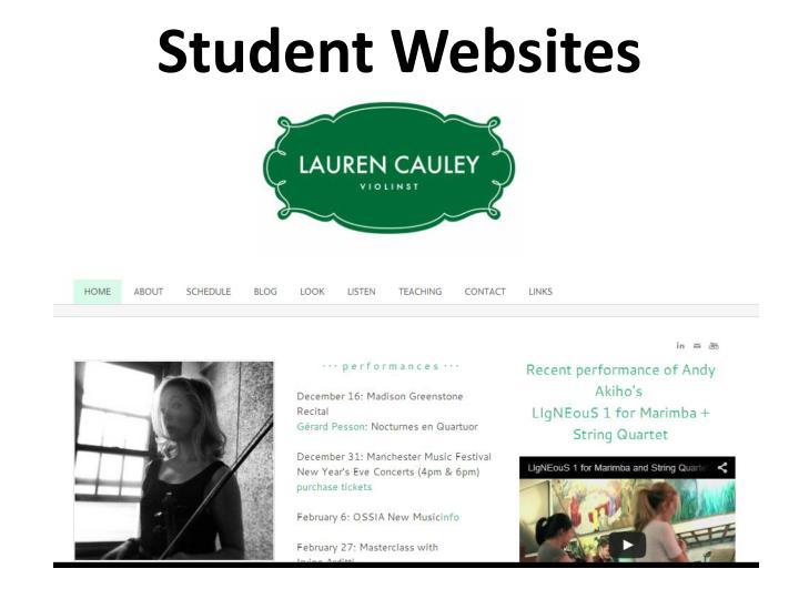 Student Websites