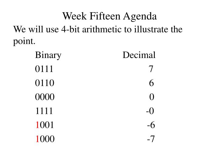 Week fifteen agenda2