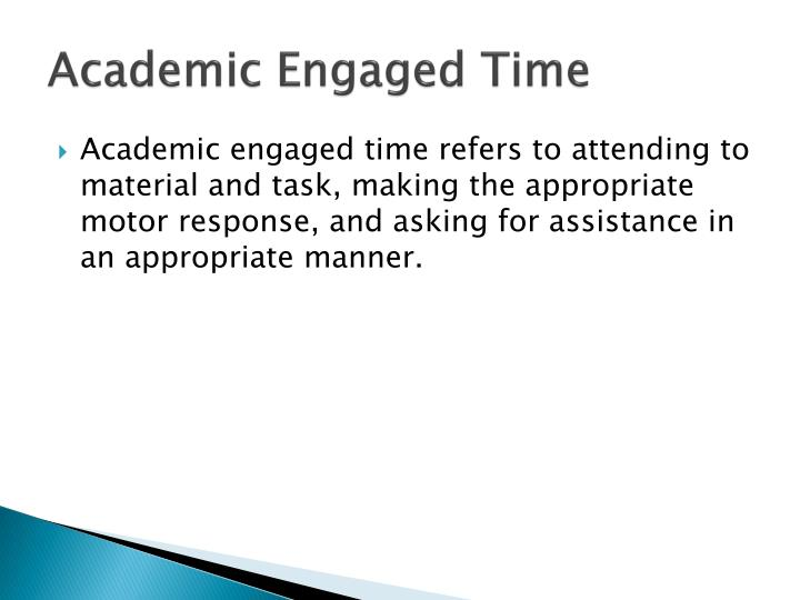 Academic Engaged Time