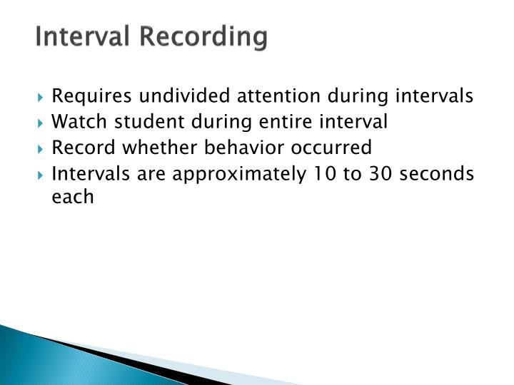 Interval Recording
