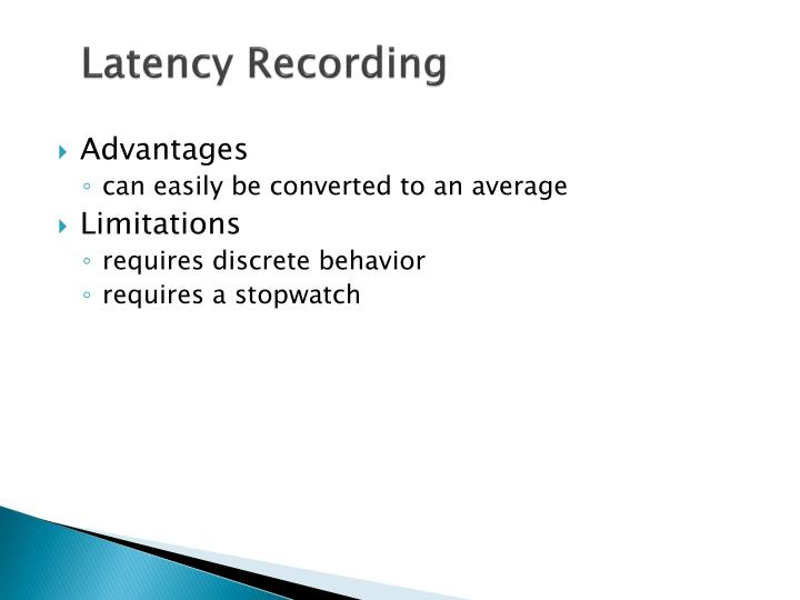 Latency Recording