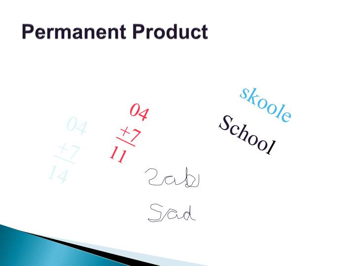 Permanent Product