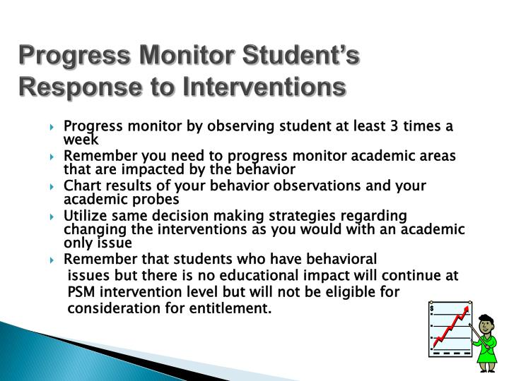 Progress Monitor Student's Response to