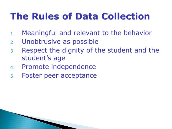 The Rules of Data Collection