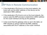 arp arp role in remote communication