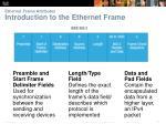ethernet frame attributes introduction to the ethernet frame