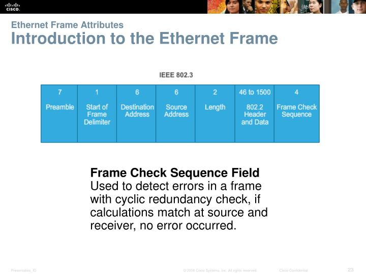 Ethernet Frame Attributes