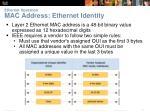 ethernet operation mac address ethernet identity