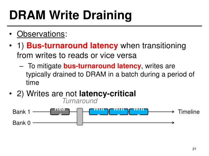 DRAM Write Draining