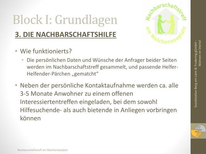 Block I: Grundlagen