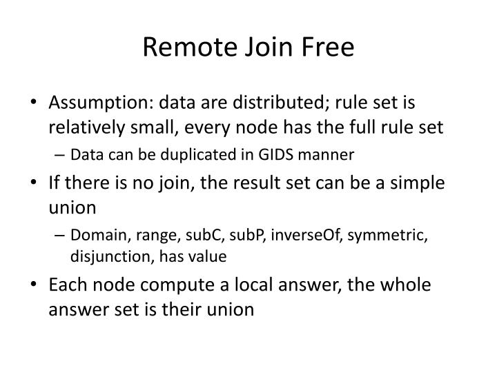 Remote Join Free