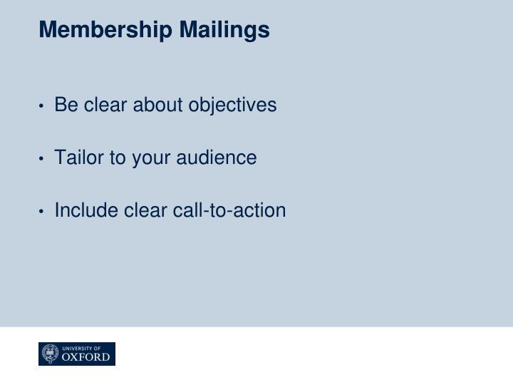 Membership Mailings