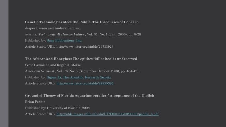 Genetic Technologies Meet the Public: The Discourses of Concern