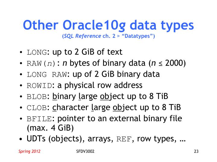 Other Oracle10