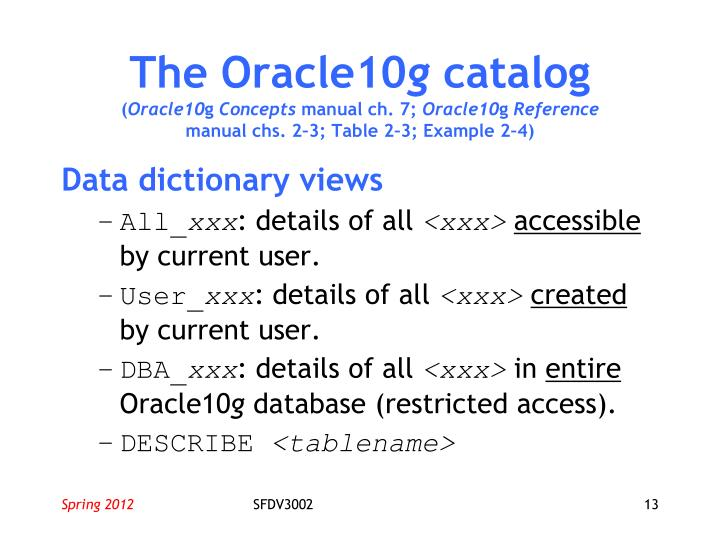 The Oracle10