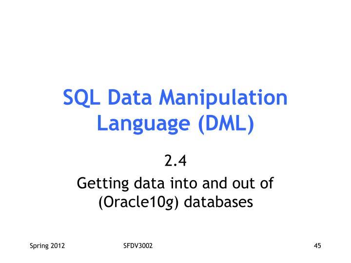 SQL Data Manipulation