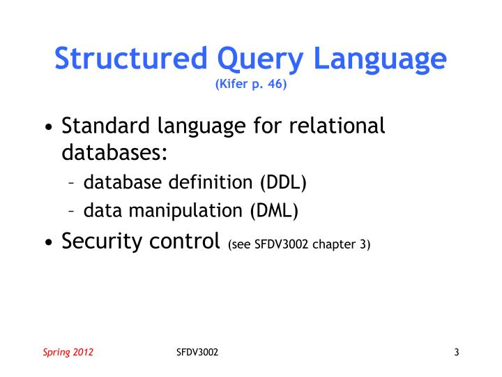 Structured query language kifer p 46