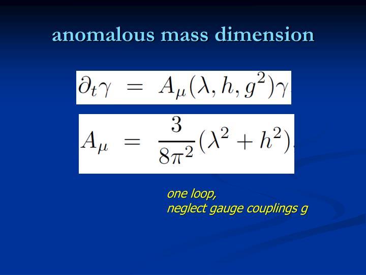 anomalous mass dimension