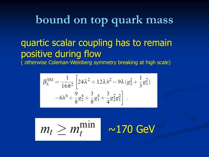 bound on top quark mass