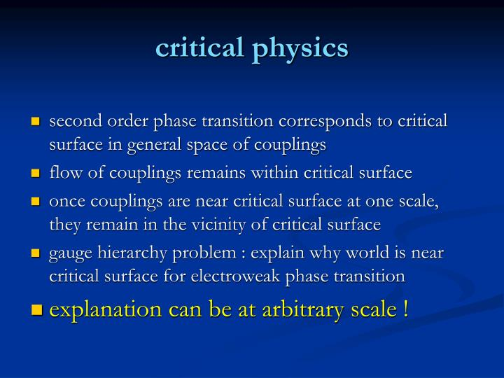critical physics