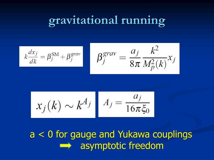 gravitational running