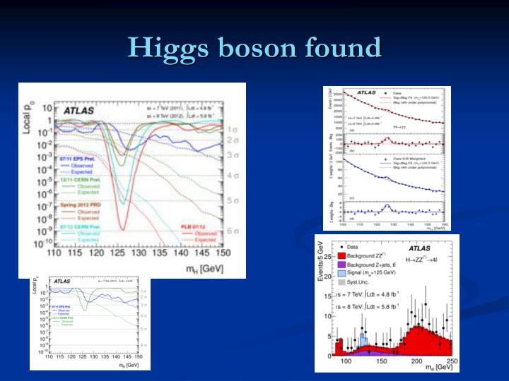 Higgs boson found