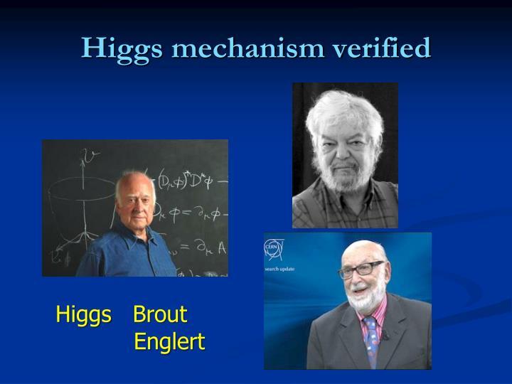Higgs mechanism verified