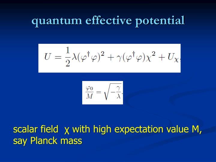 quantum effective potential