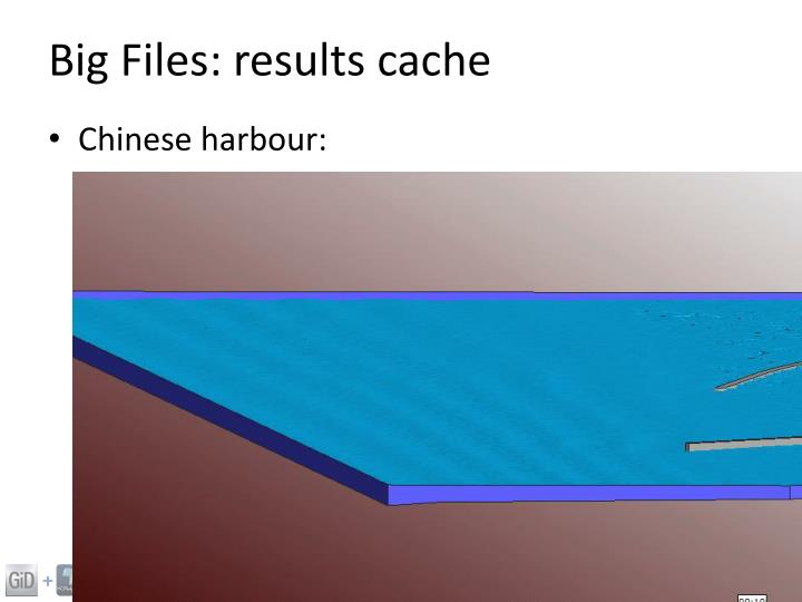 Big Files: results cache