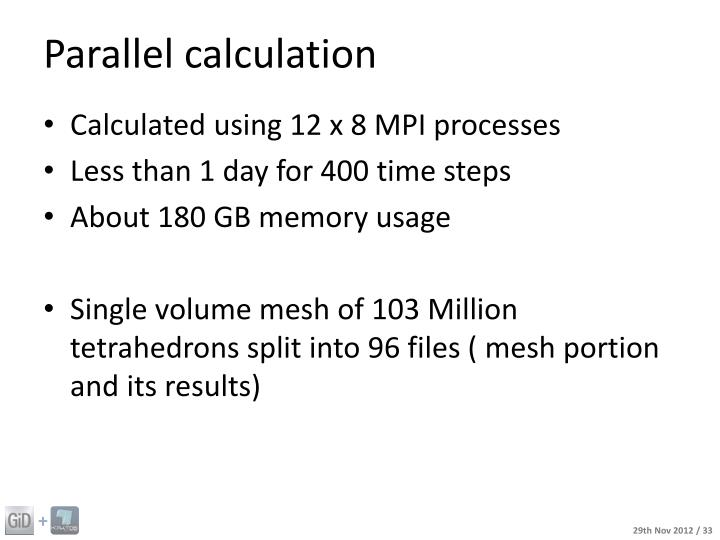 Parallel calculation