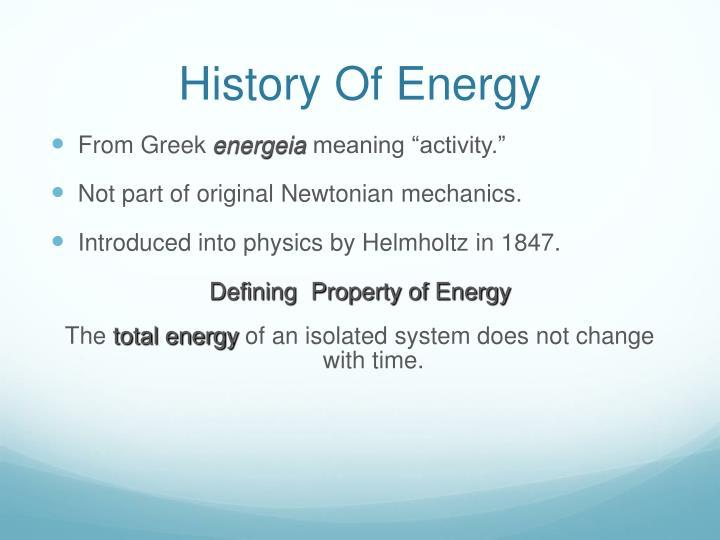 History Of Energy