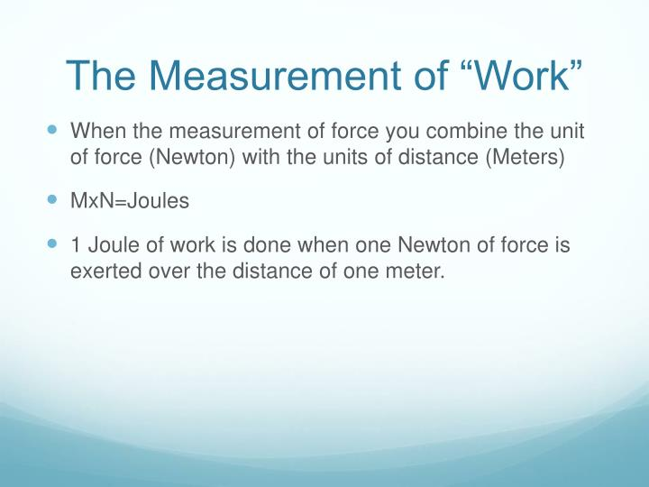 "The Measurement of ""Work"""