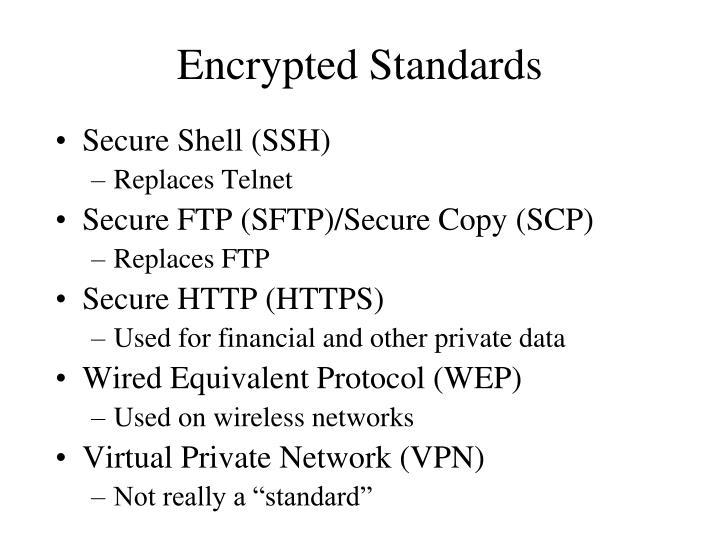 Encrypted Standards