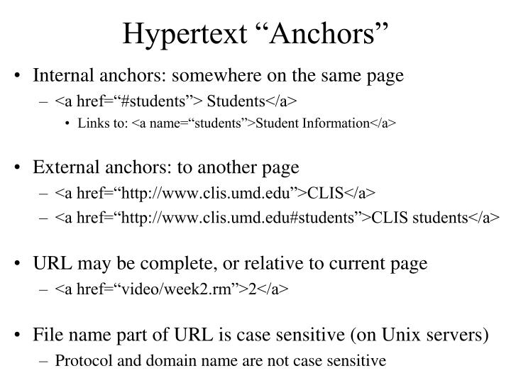 "Hypertext ""Anchors"""