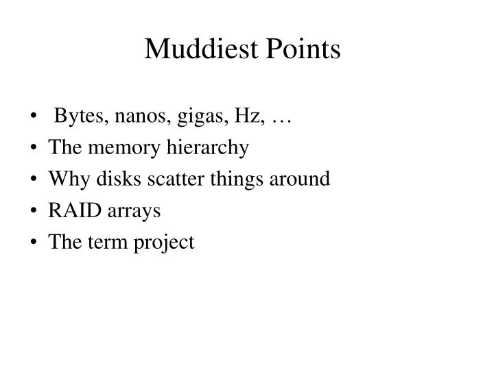 Muddiest Points