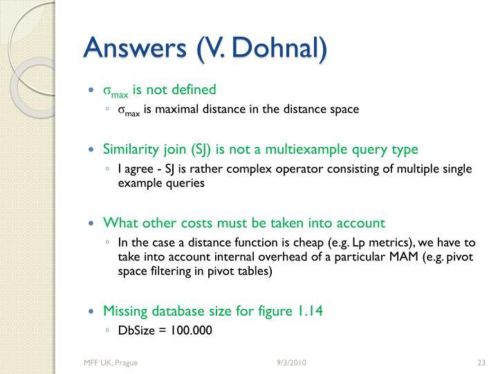 Answers (V.