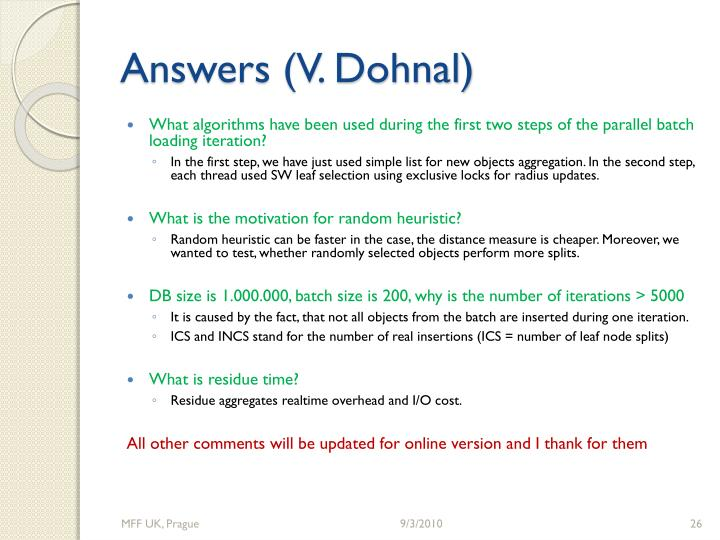 Answers (V. Dohnal)