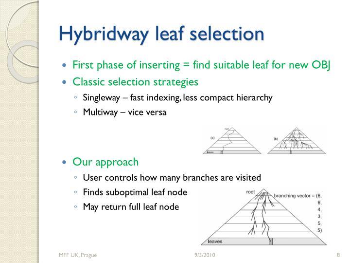 Hybridway leaf selection