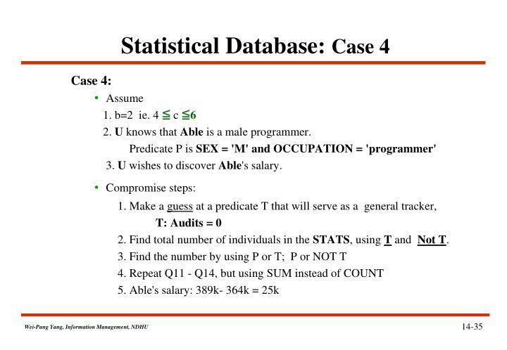 Statistical Database: