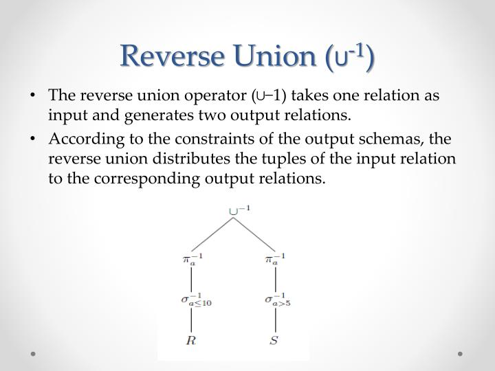 Reverse Union (