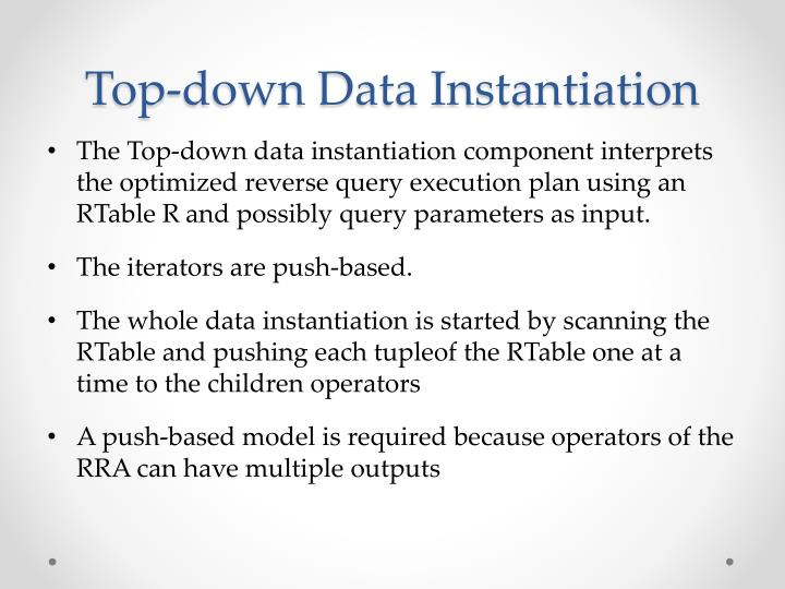 Top-down Data Instantiation