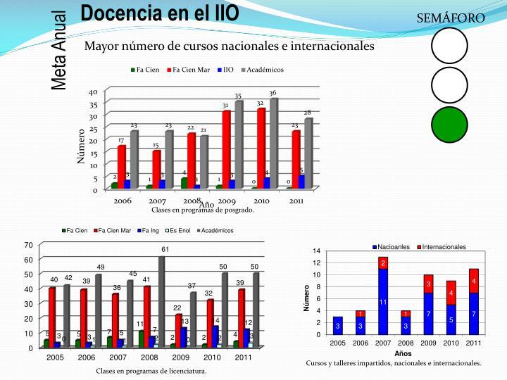 Docencia en el IIO