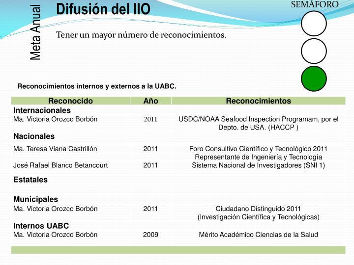 Difusión del IIO