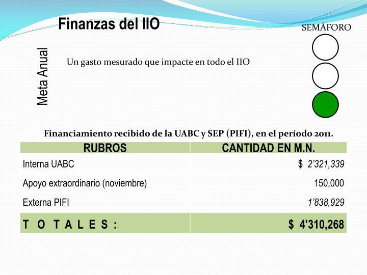 Finanzas del IIO