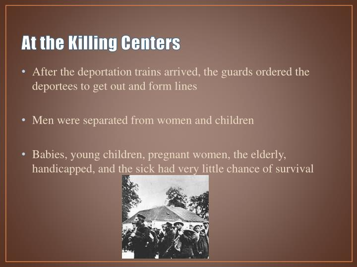 At the Killing Centers