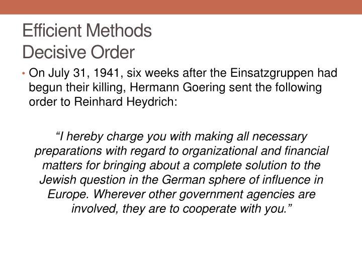 Efficient Methods
