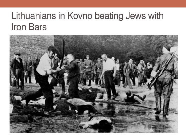 Lithuanians in Kovno beating Jews with Iron Bars