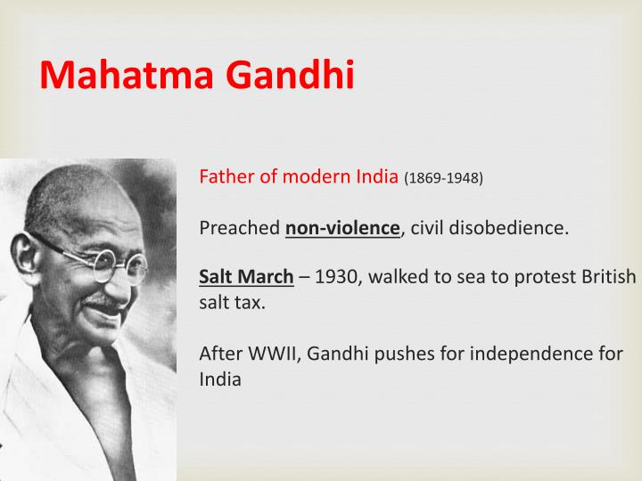 mahatma gandhi father of modern The essential gandhi an anthology of his writings on his life work and ideas an anthology of his writings on his life work ideasmohandas k gandhi called mahatma great soul was the father of modern india but his influence has spread well beyond the subcontinent and is as.