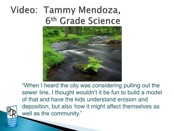 Video:  Tammy Mendoza,