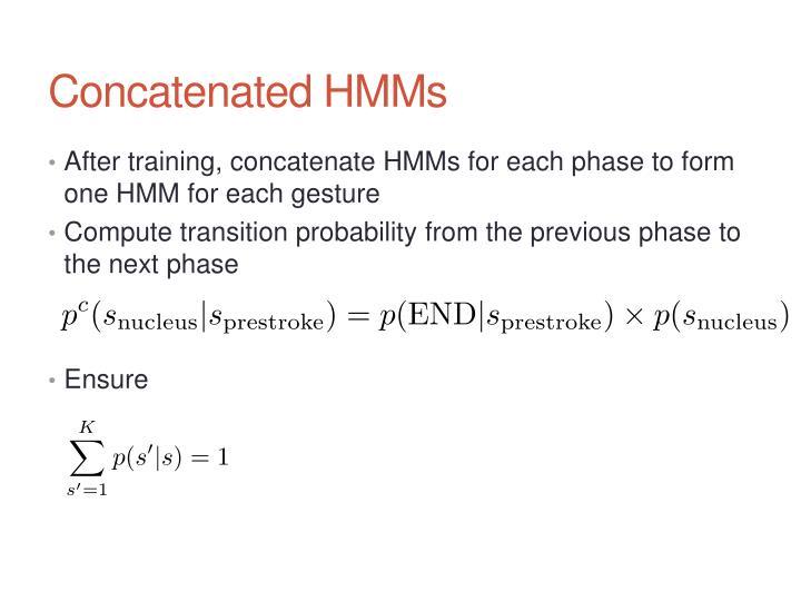 Concatenated HMMs